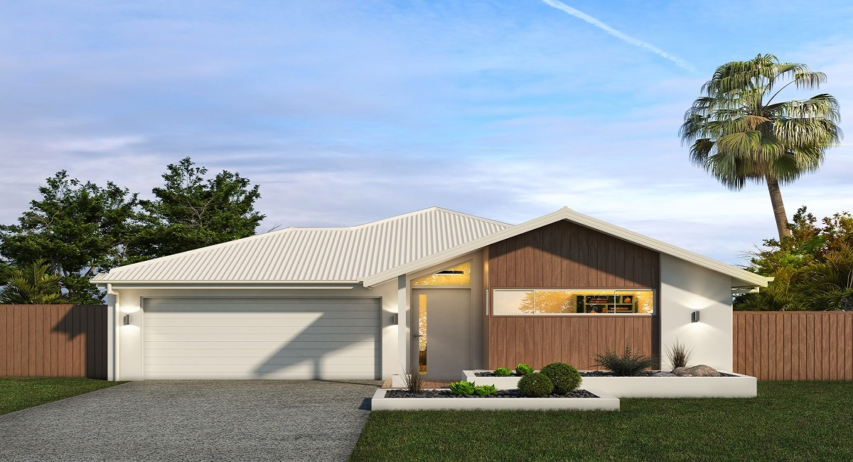 Facade Render Malibu 202 - 16 Bungalow with Render
